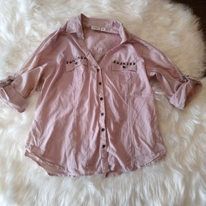 💎 3/$20 Pink studded heart and angel wing top